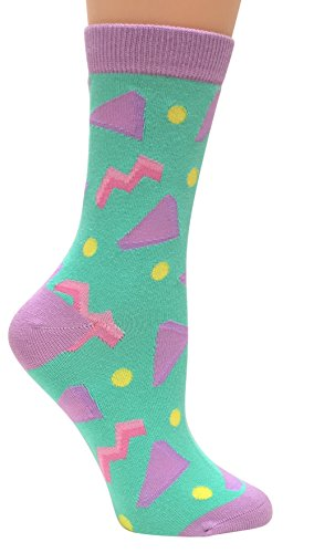 Circa 1990's, Anydaze Women's Crew Socks, Soft Combed Cotton and smooth toe