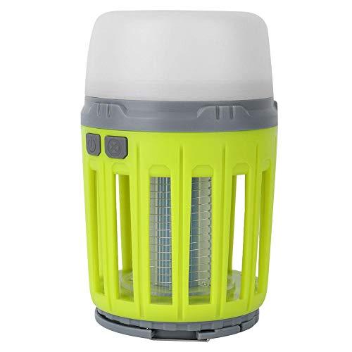 Repelente de Mosquitos, luz Solar de Color Verde Claro para Matar Mosquitos, Plaga para Matar Mosquitos para el hogar, Viajes, Exteriores, jardín (13 * 8 * 8 cm)(No Solar Panel)