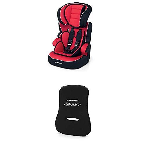 Foppapedretti Babyroad Seggiolino Auto, Gruppo 1-2-3 (9-36 Kg) per Bambini da 9 Mesi a 12 Anni circa, Rosso (Rouge) + Dispositivo Antiabbandono,...