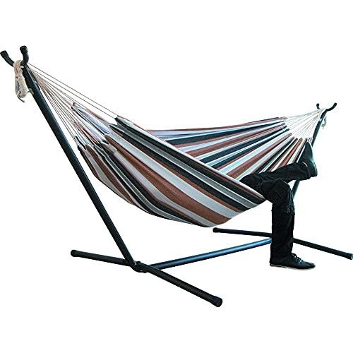 ZJSXIA Hamaca de Dos Personas Que acampa espesando Silla de Swinging al Aire Libre Colgando Lienzo Silla Mecedora no con Stand 200 * 150cm-d Hamaca Colgante (Color : A)