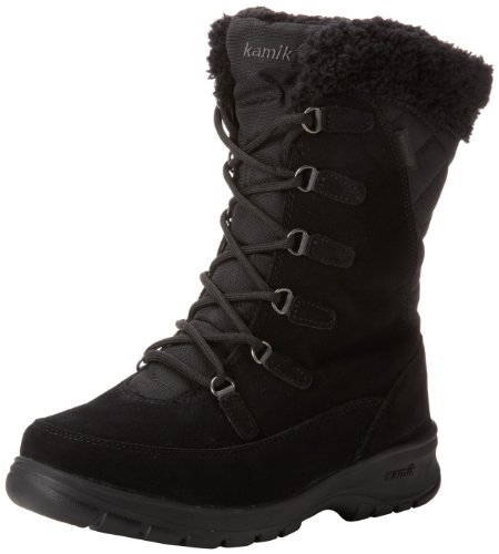 Kamik Damen Boston Schneestiefel, Schwarz (schwarz), 38 EU