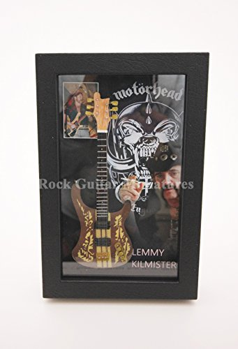 Unbekannt RGM8912 Lemmy Kilmister Motorhead Miniature Guitar Collection in Shadowbox Frame