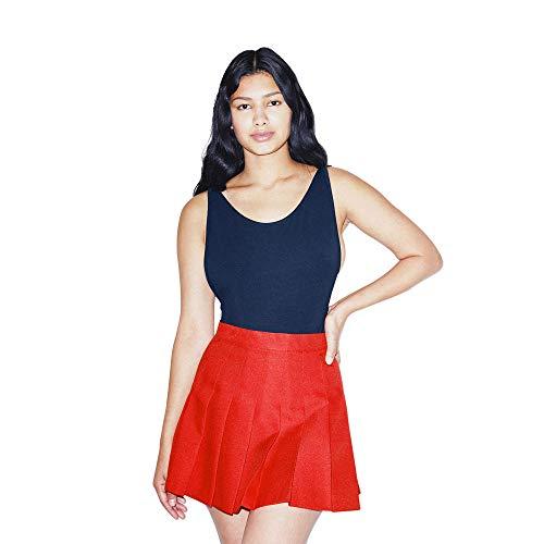 American Apparel Women's Gabardine Tennis Skirt, American Beauty, X-Small