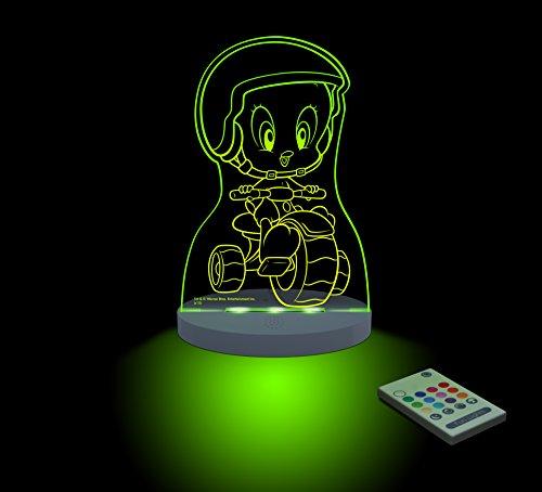 FUNLIGHTS Piolin Moto Lámpara Bebé LED Multicolor con Mando. Elige el Color, Intensidad, Temporizador, Arco-iris y ¡mucho más!