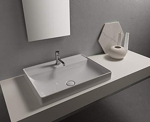 Waschbecken T-Edge 61 x 46 x 14 Weiß B6R62BI