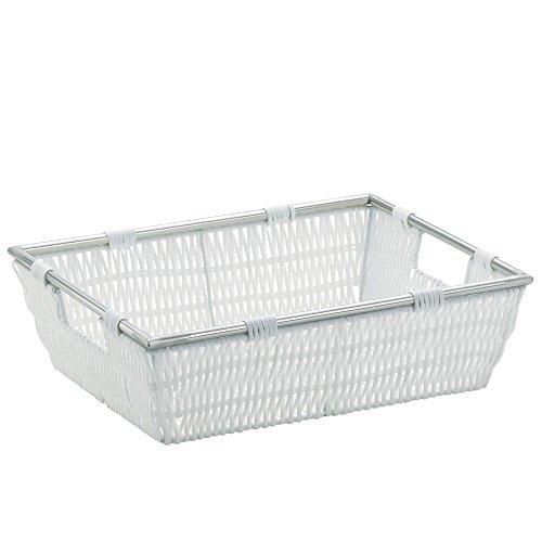 kela Korb Noblesse 33x25x10cm aus Kunststoffgeflecht in weiß, Plastik, 33 x 25 x 10 cm