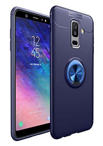SORAKA Funda para Samsung Galaxy A6+/A6 Plus 2018 con Anillo Giratorio de 360 Grados Funda Silicona Suave Funda Ultrafina con Placa de Metal para Soporte magnético de teléfono para automóvil