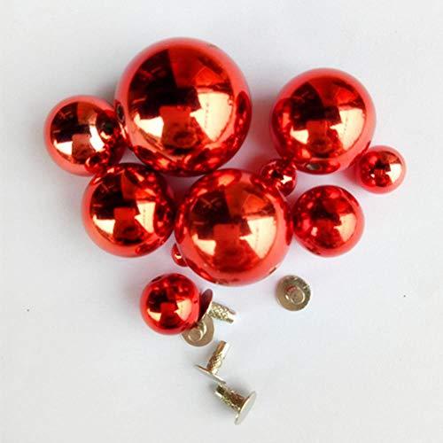 22mm 6pc nieuwe metalen bel ronde vorm koperen vorm jingle bells voor charme belletjes ketting geschikt festival/feest/huisdier ketting, wit, 22mm