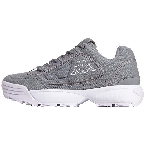 Kappa Unisex Rave Sun Sneaker, Weiß (Grey/White 1610), 39 EU