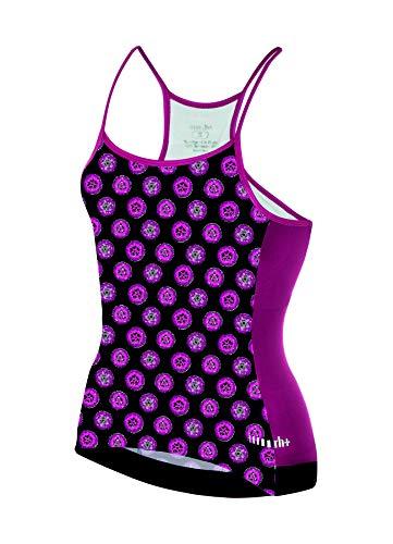 RH+ Preppy W Spaghetto, Fashion Lab Bike Jersey Donna, Black-Fluo Pink-White, S