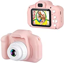 """Dartwood 1080p Digital Camera for Kids with 2.0"""" Color Display Screen & Micro-SD Card Slot for Children - 32GB SD Card Included (Pink)"""