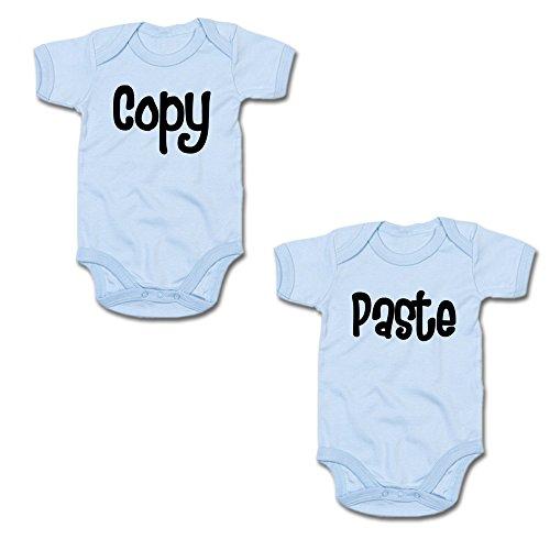 Copy & Paste Twin-Set Baby-Body-Set (250.0046) (3-6 Monate, blau/blau)