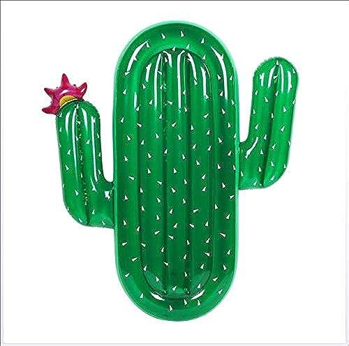 DJG Ponton de Piscine de Cactus, lit Gonflable de Piscine de Jouets gonflables de l'eau et Piscine de flotteHommest de Plage de Piscine Gonflable de Chaise Flottante