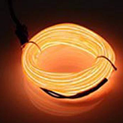 Bande lumineuse néon souple LED EL luisant dans l'obscurité avec Pilote CC 12V pour décoration, Plastique, Orange., 1M