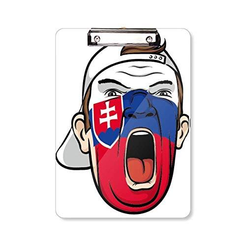 Slowakije Vlag Gezicht Schilderij Make-up Cap Clipboard Map Schrijven Pad Achterplaat A4
