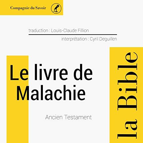 Couverture de Le livre de Malachie