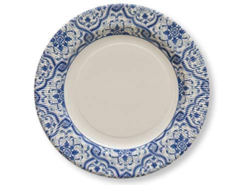 Chaks 243SG, Lot de 8 petites assiettes Azulejos 21cm