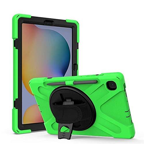 Case2go - Funda para Samsung Galaxy Tab S7 Plus (2020) - SM-T970 / SM-T976 - Resistente a los golpes - Con soporte giratorio - Verde