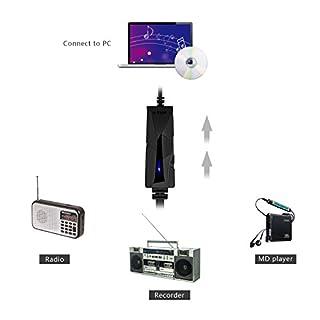 عروض V.TOP USB 2.0 Audio Capture Card with Music Editing Software for Cassette Player Recorder - Convert Cassette/Radio to MP3