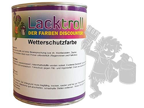 Wetterschutzfarbe Telegrau 4 RAL 7047 Gebindegröße 750 ml