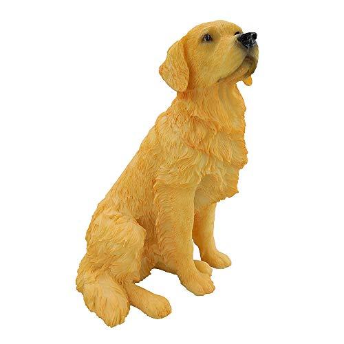 Artgenius Golden Retriever Figurine 7 Inches,Sitting