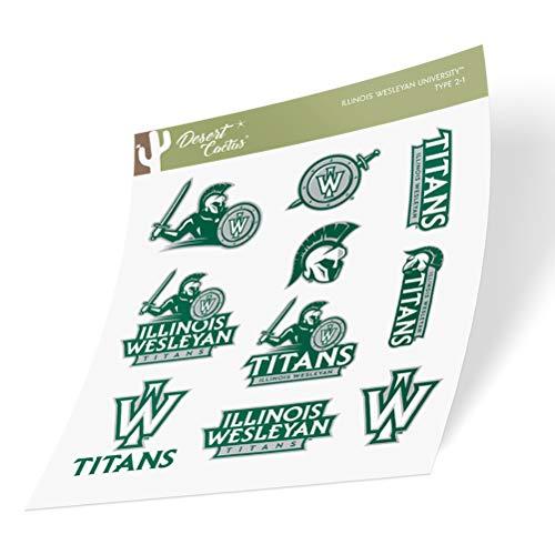 Illinois Wesleyan University IWU Titans Sticker Vinyl Decal Laptop Water Bottle Car Scrapbook (Type 2 Sheet)