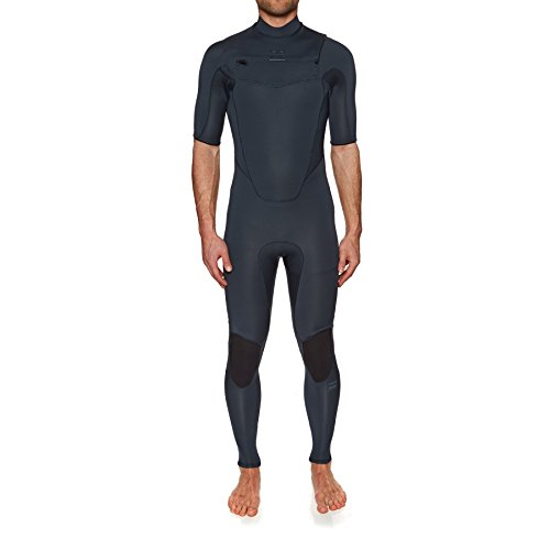 BILLABONG 2018 Absolute 2mm Chest Zip Short Sleeve Wetsuit Slate H42M25 Sizes- - Large