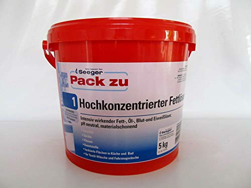 Seeger, Pack Zu 1, Fettlöser, hochkonzentrierter Reiniger, 5kg.