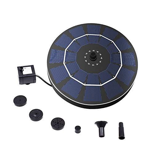 CBLD Solarstrom Vogelbad Brunnen-Pumpe mit Brushless Anti-Blocking Tauchpumpe Panel Kit for Vogel-Bad Garten Kleinen Teich Verschiedene Wassersprüh-Effekte