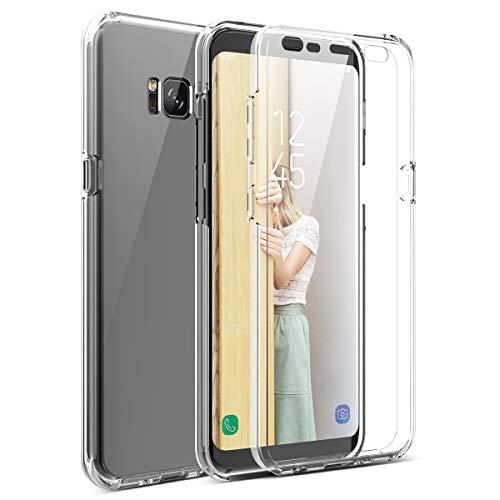 CE-Link Kompatibel mit Samsung S8 Plus Hülle 360 Grad [Crystal Clear] Transparent Hüllen mit Integriertem Bildschirmschutz Silikon & PC Handyhülle Schutzhülle für Samsung Galaxy S8 Plus Durchsichtige