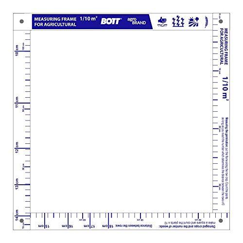 BOTT Zählrahmen Frame 1/10 m², Zählrahmen für Landwirtschaft, Zählrahmen für Getreide, Unkrautzählrahmen, Gliedermaßstab, Quadrat für die Landwirtschaft, (ENGLISCH, 375mm X 375 mm)