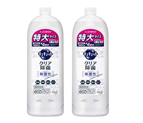キュキュット クリア除菌 香りをほとんど感じない無香性 つめかえ用 770ml×2本