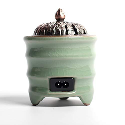 Ceramic Incense Burner Quemador de Incienso de cerámica eléctrico, Tiempo de Quemador de Aceite...