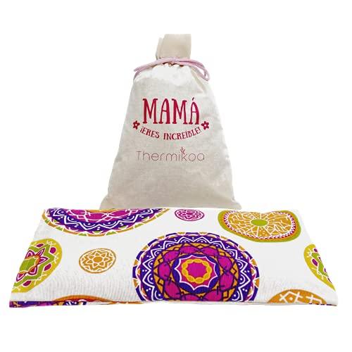 Saco Térmico Semillas - Saco Semillas Microondas para Mamá con Única Mezcla de Semillas de Lavanda, Trigo y Romero. Apto para Crioterapia, Termoterapia y Aromaterapia (Thermikoa)