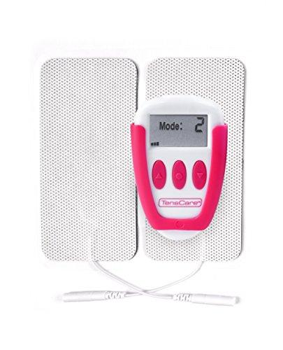 TensCare Ova+ Schmerzlinderung bei Menstruationsbeschwerden. 4 Modi mit und 2 Wiederverwendbare Elektrodenpads, USB Aufladbar