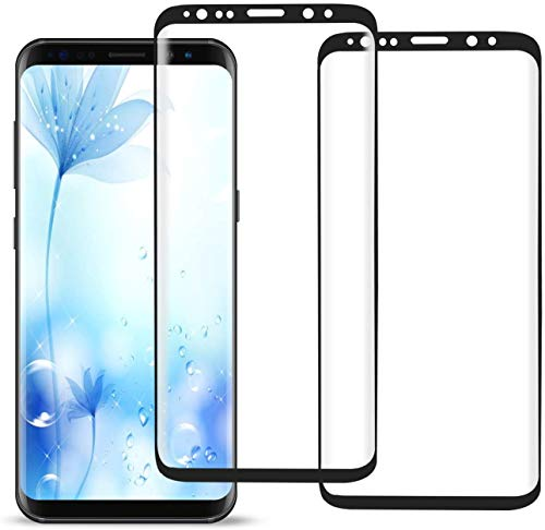 Galaxy S8 Screen Protector,Full Coverage Tempered Glass [2 Pack][3D Curved][Anti-Scratch] [Anti-Fingerprint][High Definition] for Samsung Galaxy S8 Tempered Glass Film Screen