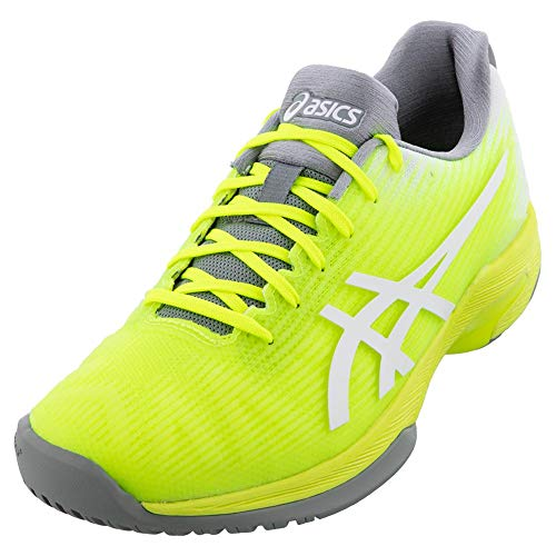 ASICS Women's Solution Speed FF Tennis Shoes, 7M, Safety Yellow/White