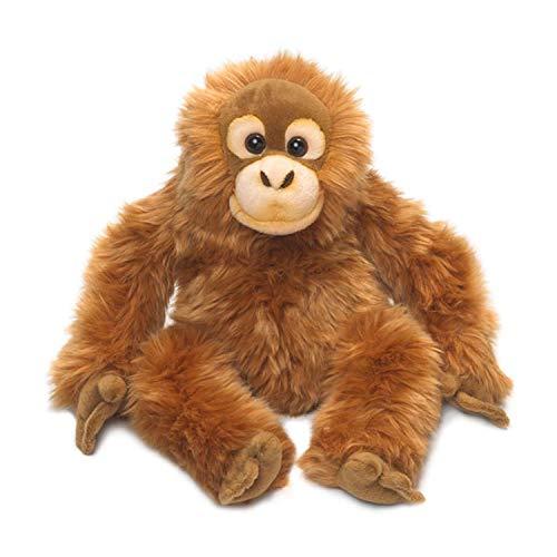 WWF WWF16115 Plüsch Orang-Utan, realistisch gestaltetes Plüschtier, ca. 39 cm groß und wunderbar weich, braun