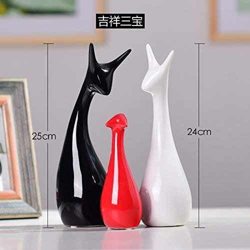 ZXL De eenvoud van de moderne keramische decoratie creatieve huishoudtextiel woonkamer TV-kast kast decoratie dier Visionario Deer, de slak op harde mat
