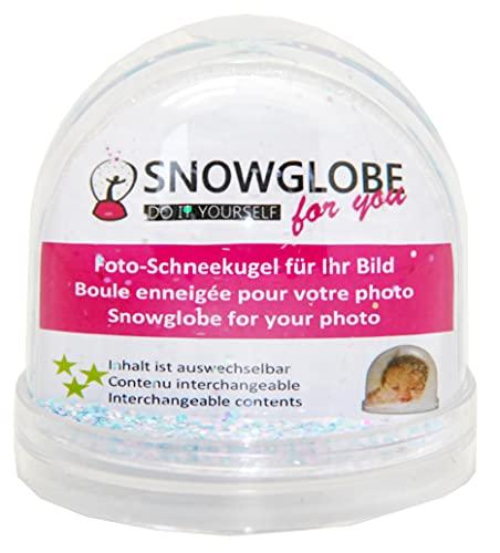 50001 Boule a neige pour photo avec socle transparent avec scintille
