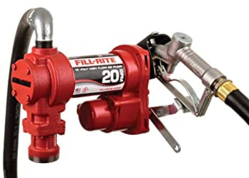 Fill-Rite FR4210H 12V 20 GPM Fuel Transfer Pump  Manual Nozzle Discharge Hose Suction Pipe