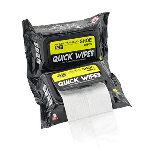 2 Pack 60 Pcs Shoe Sneaker Wipes Cleaner Quick Wipes Disposable Travel Portable Removes Dirt, Stains