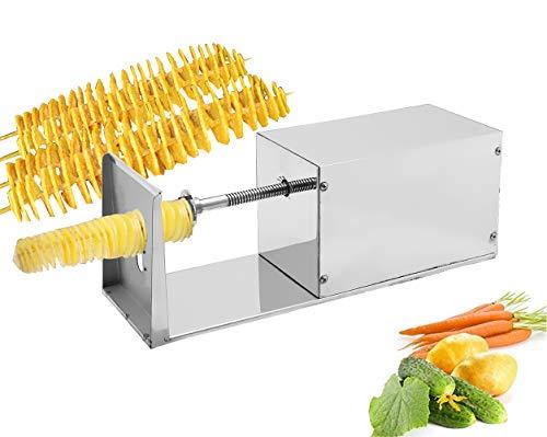 CGOLDENWALL Cortador eléctrico de patatas en espiral, cortador de patatas, cortador de...