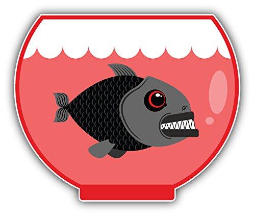 Piranha In Aquarium Auto-Dekor-Vinylaufkleber 12 X 10 cm