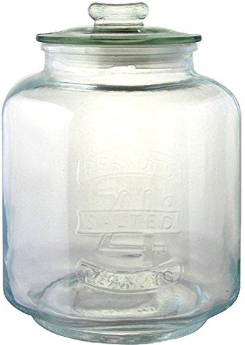 リビング 保存容器 キャニスター ガラス クッキージャー Mサイズ 目安容量約 5.0L 径19×高さ26cm クリア アーモンド