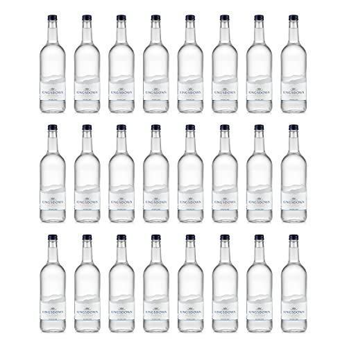 Kingsdown - Bottiglia in vetro minerale frizzante, 750 ml, confezione da 24