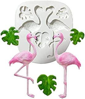 Flamingo/Turtle Leaf Fondant Silicone Mold for Sugar Paste,Candy, Fondant, Butter, Resin, Polymer Clay, Wax, Soap,Chocolate