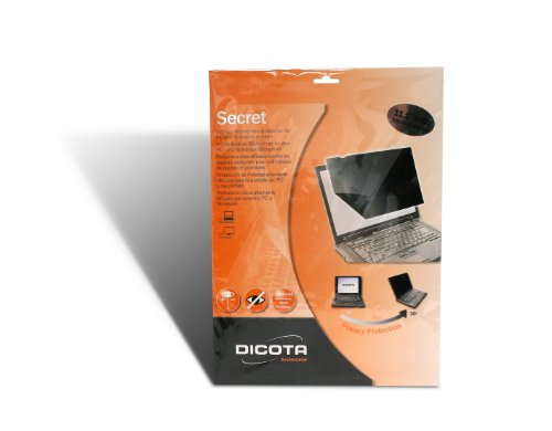 Dicota Secret Sichtschutz für Bildschirm Aktentasche, Schwarz