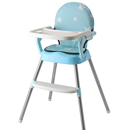 RUMIAO Baby Hochstuhl Tragbarer Kinder-Esstischstuhl Multifunktions-Klapp-Esssitz,Blue