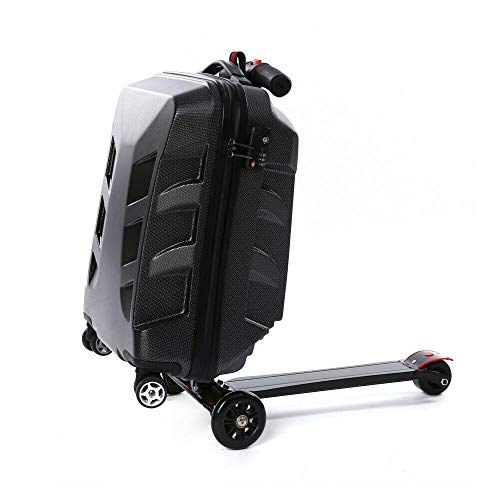 Bagageset van 21 inch met rugzak, smart opvouwbare bagage reizen, school business creatief scooter trolley case multifunctioneel gepersonaliseerd